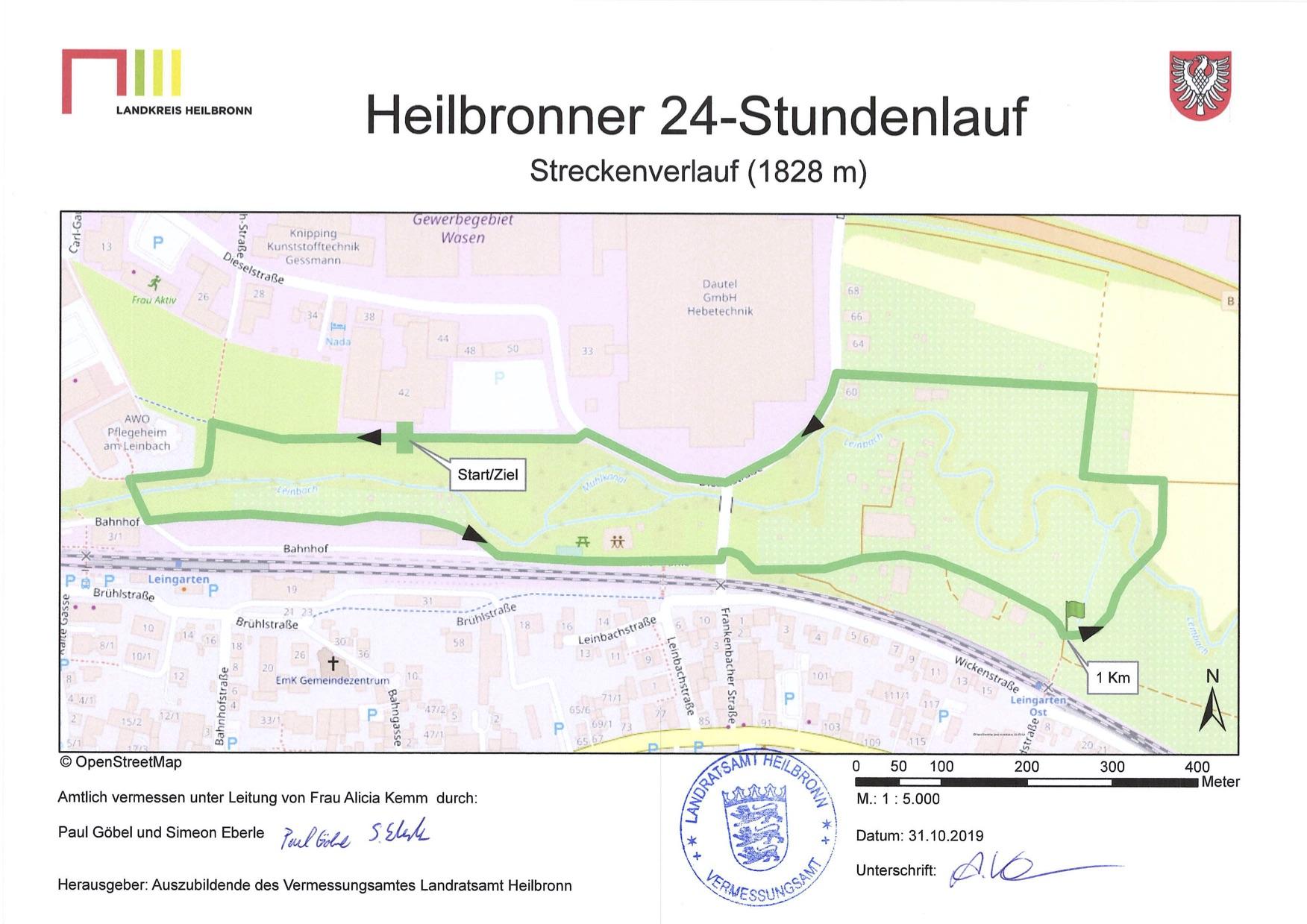 Heilbronner 24-Stundenlauf_Laufstrecke original Stadt Heilbronn